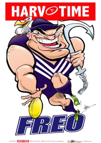Fremantle Dockers, Mascot Print Harv Time Poster