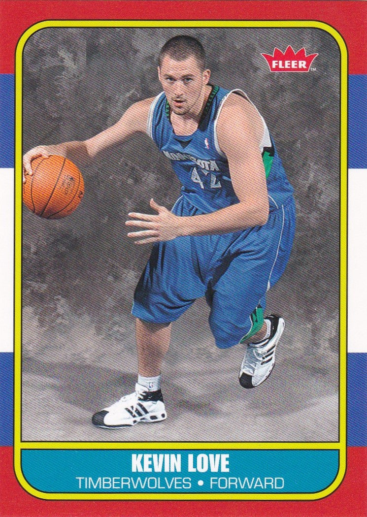 Kevin Love, 1986 Style, 2008-09 Fleer NBA RC