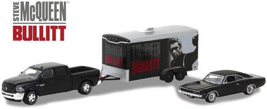 Bullitt, 2017 Ram 2500 Power Wagon, 1968 Dodge Charger R/T Hitch & Tow, 1:64 Diecast Vehicle