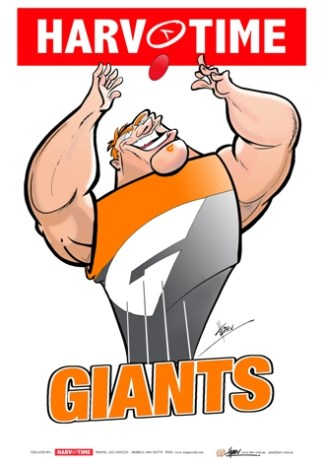 GWS Giants, Mascot Print Harv Time Poster