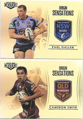 Cam Smith & Paul Gallen, Parallel Case Cards, 2013 ESP Elite NRL