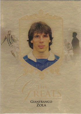 Gianfranco Zola, Gold Parallel, 2016 Futera Unique Soccer
