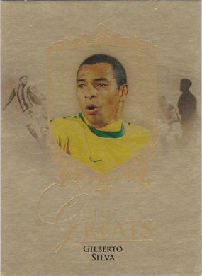Gilberto Silva, The Greats, Gold Parallel, 2016 Futera Unique Soccer