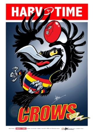 Adelaide Crows, Mascot Harv Time Poster