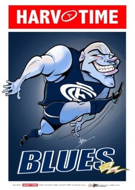 Carlton Blues, Mascot Harv Time Poster