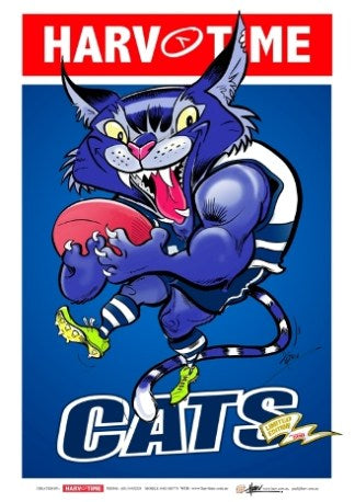 Geelong Cats, Mascot Harv Time Poster