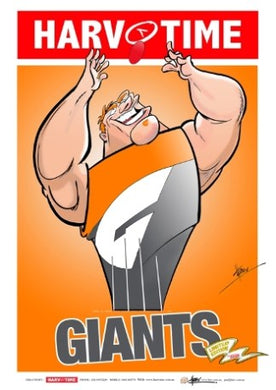 GWS Giants, Mascot Harv Time Poster