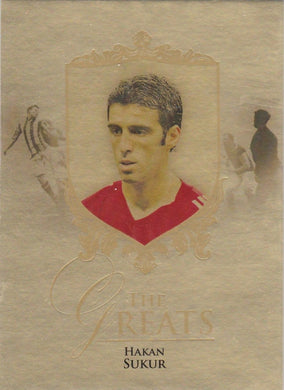 Hakan Sukur, The Greats, Gold Parallel, 2016 Futera Unique Soccer