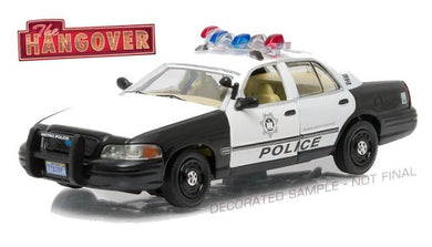 The Hangover 2000 Crown Victoria Police Interceptor, 1:43 Diecast Model Car