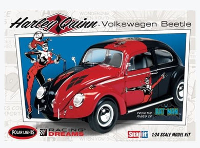 DC Comics Harley Quinn VW Beetle Plastic Model Kit, 1:24 Scale