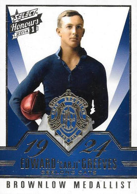 2014 Select AFL Honours 1, Brownlow Gallery Set of 50 cards