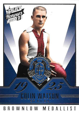 2015 Select AFL Honours 2, Brownlow Gallery Set of 50 cards