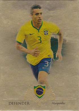 Marquinhos, Gold Parallel, 2016 Futera Unique Soccer