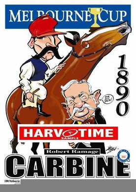 Carbine, 1890 Melbourne Cup, Harv Time Poster
