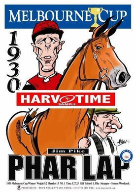 Phar Lap, 1930 Melbourne Cup, Harv Time Poster