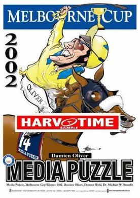 Media Puzzle, 2002 Melbourne Cup, Harv Time Poster