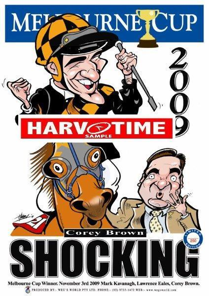 Shocking, 2009 Melbourne Cup, Harv Time Poster