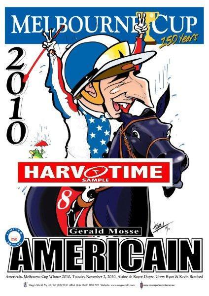 Americain, 2010 Melbourne Cup, Harv Time Poster