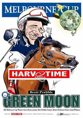 Green Moon, 2012 Melbourne Cup, Harv Time Poster