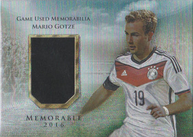 Mario Gotze, Memorable, 2016 Futera Unique Soccer