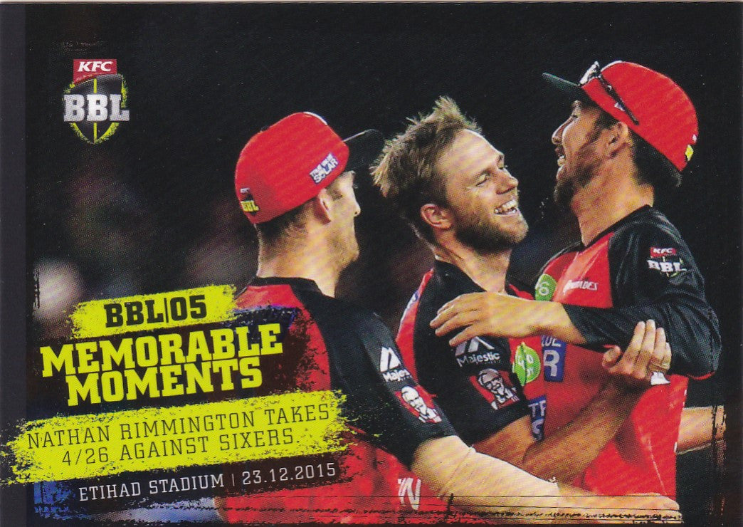 2016-17 Tap'n'play CA BBL 05 Cricket, Memorable Moments, Nathan Rimmington, MM-04