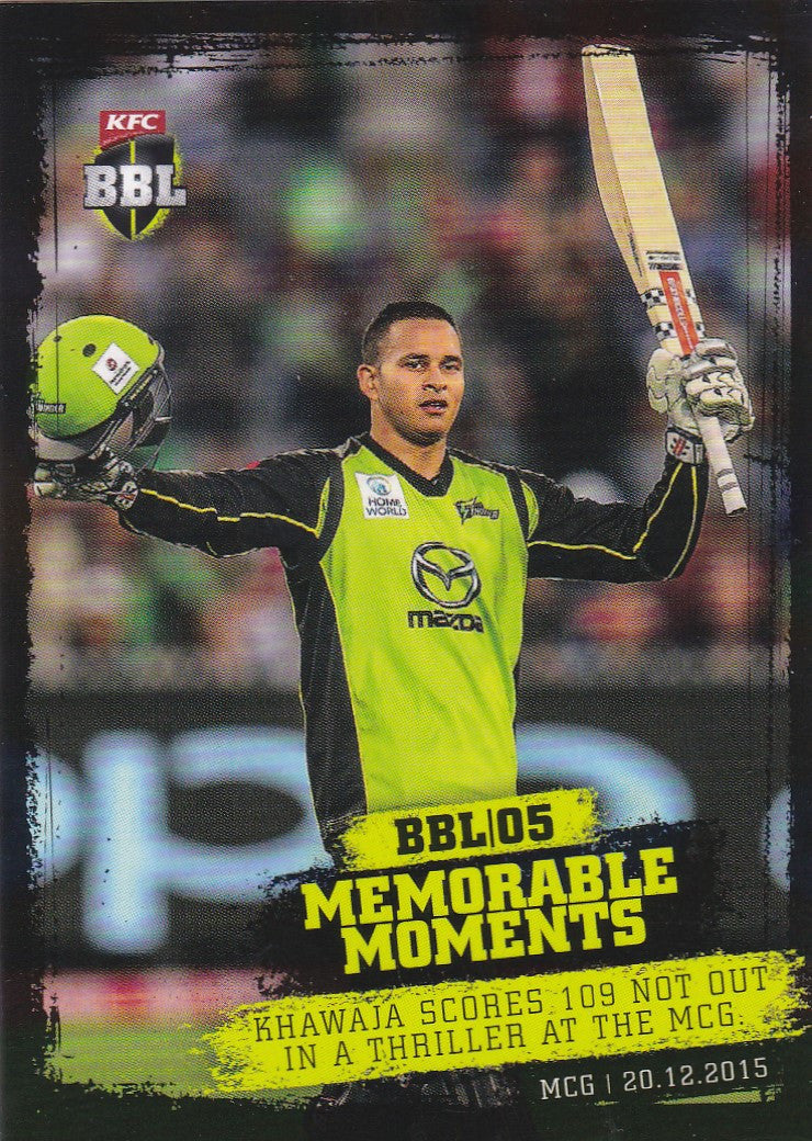 2016-17 Tap'n'play CA BBL 05 Cricket, Memorable Moments, Usman Khawaja, MM-02
