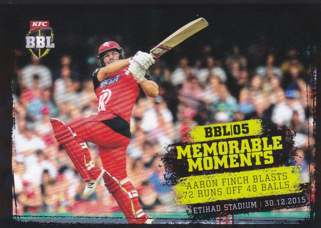 2016-17 Tap'n'play CA BBL 05 Cricket, Memorable Moments, Aaron Finch, MM-07
