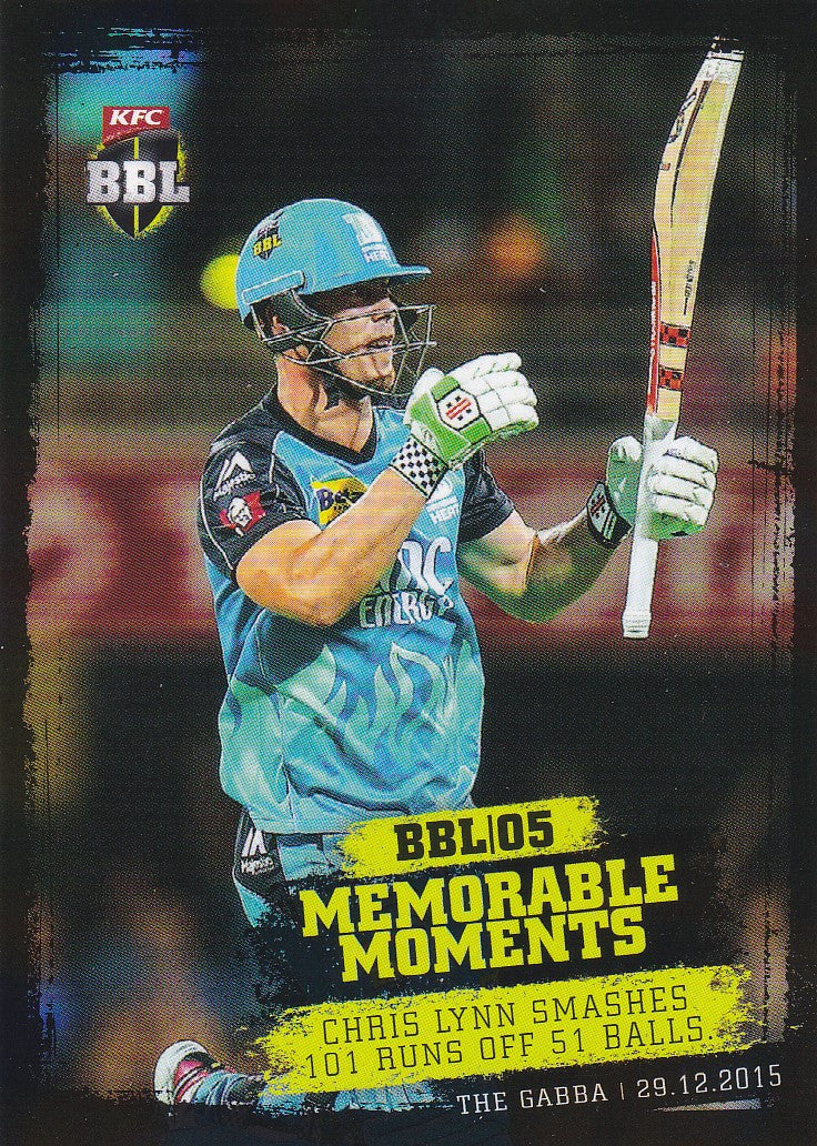 2016-17 Tap'n'play CA BBL 05 Cricket, Memorable Moments Chris Lynn, MM-05