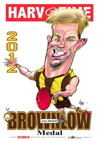 Sam Mitchell, 2012 Brownlow Harv Time Poster