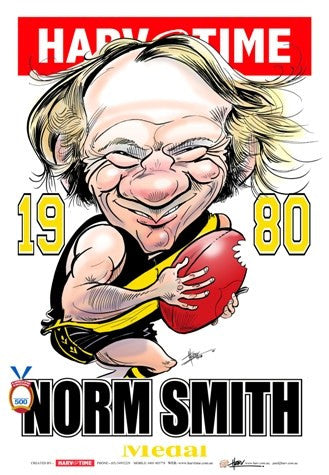Kevin Bartlett, 1980 Norm Smith Medallist, Harv Time Poster