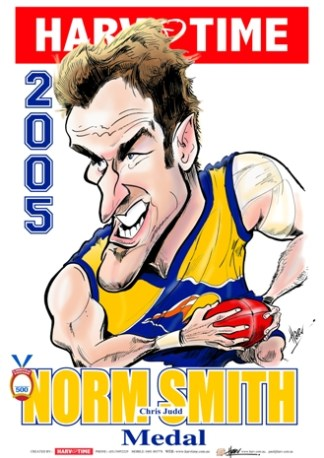 Chris Judd, 2005 Norm Smith Medal, Harv Time Poster