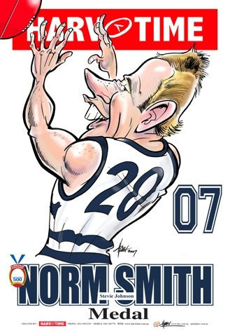 Steve Johnson, 2007 Norm Smith Medal, Harv Time Poster