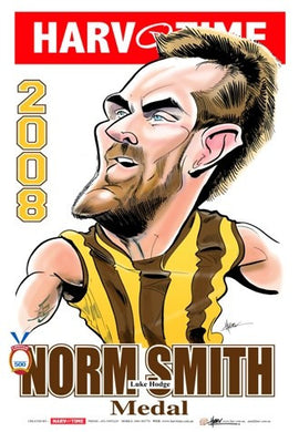 Luke Hodge, 2008 Norm Smith Medal, Harv Time Poster