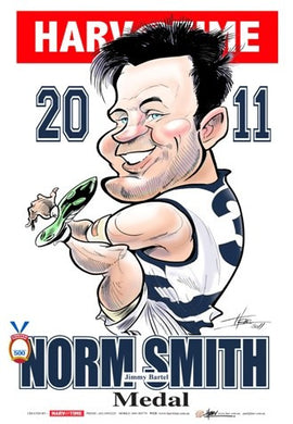 Jimmy Bartel, 2011 Norm Smith Medal, Harv Time Poster