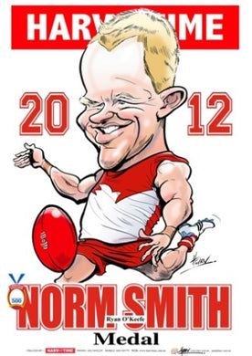 Ryan O'Keefe, 2012 Norm Smith Medal, Harv Time Poster