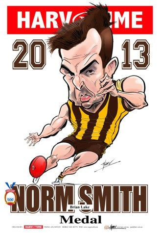 Brian Lake, 2013 Norm Smith Medal, Harv Time Poster