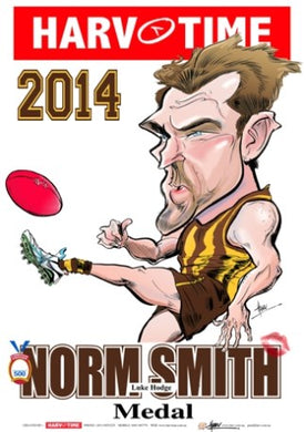 Luke Hodge, 2014 Norm Smith Medal, Harv Time Poster