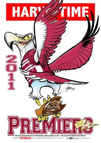 Manly Sea Eagles, 2011 Premiers, Harv Time Poster