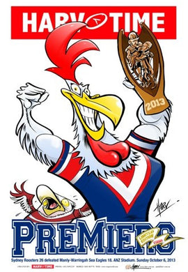 Roosters, 2013 Premiers, Harv Time Poster