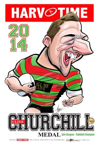 Sam Burgess, 2014 Churchill Medal, Harv Time Poster