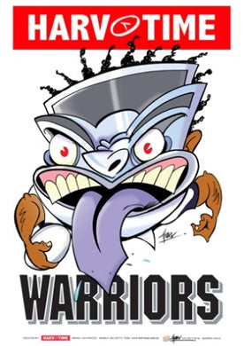 New Zealand Warriors, NRL Mascot Print Harv Time Poster
