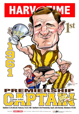 Graham Arthur, 1961 Premiership Captain, Harv Time Poster