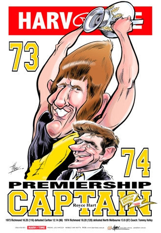 Royce Hart, 1973 Premiership Captain, Harv Time Poster