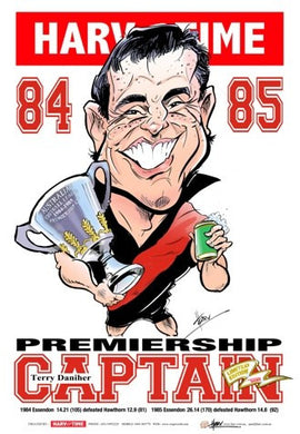 Terry Daniher, Premiership Captain, Harv Time Poster