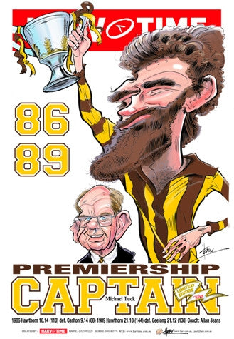 Michael Tuck, Premiership Captain, Harv Time Poster