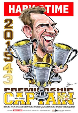 Luke Hodge, Premiership Captain, Harv Time Poster