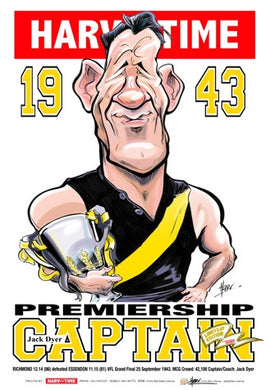 Jack Dyer, 1943 Premiership Captain, Harv Time Poster