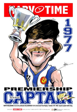 David Dench, 1977 Premiership Captain, Harv Time Poster
