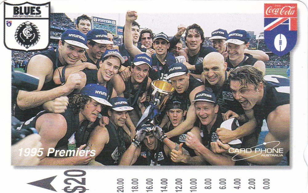 Carlton 1995 Premiers Phone card