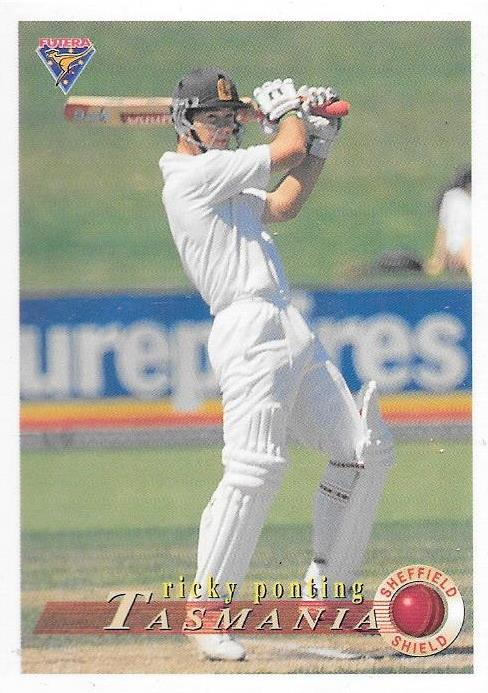 Ricky Ponting, Rookie card, 1994-95 Futera Cricket
